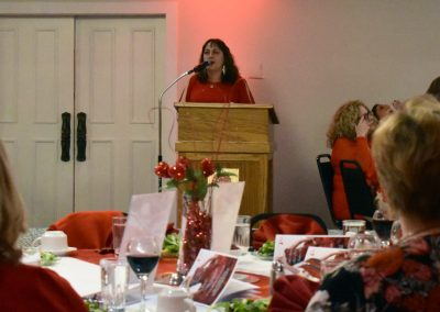 Head of YMCA Red Dress Event