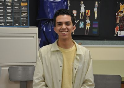 """Daniel Burgos is a senior in Fashion Design and his favorite poem is """"Irreplacable"""" by Rupi Kaur. It's understandable why he likes this poem considering it has lines like """"The universe . . . crafted you to offer the world something different than everyone else."""""""