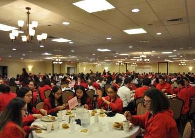GNBVT students enjoying dinner during Skills USA
