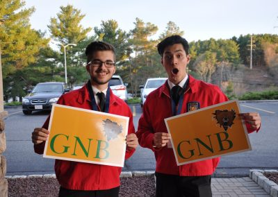 GNBVT students show off their school spirit with GNB signs