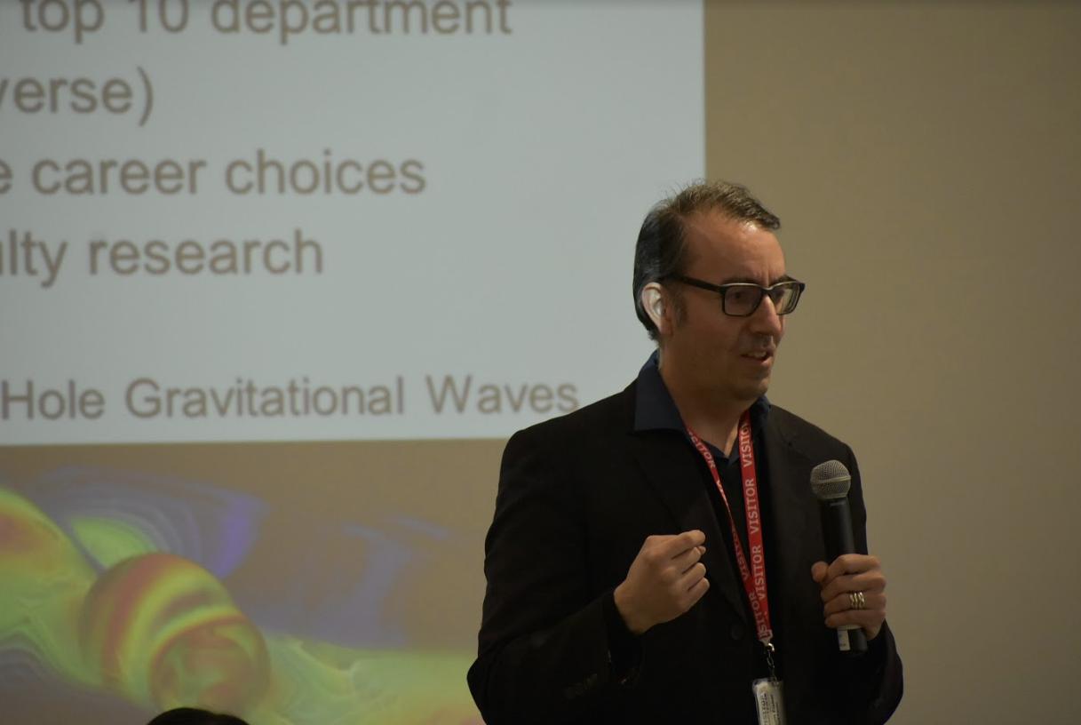 UMASS teacher presenting