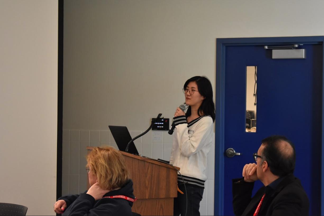 UMASS students presenting