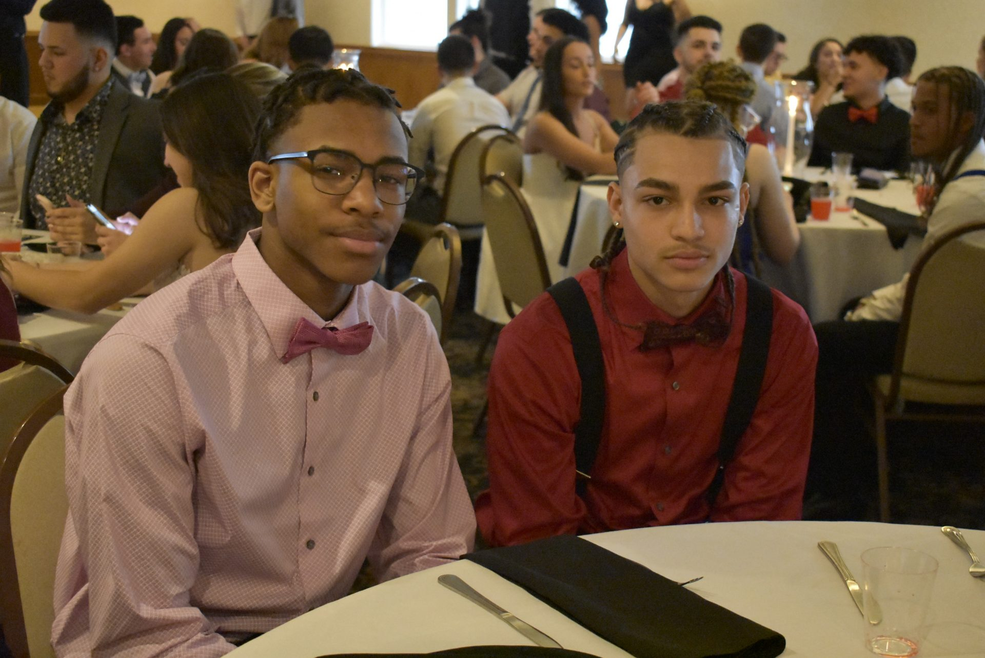 Friends enjoying Junior Banquet