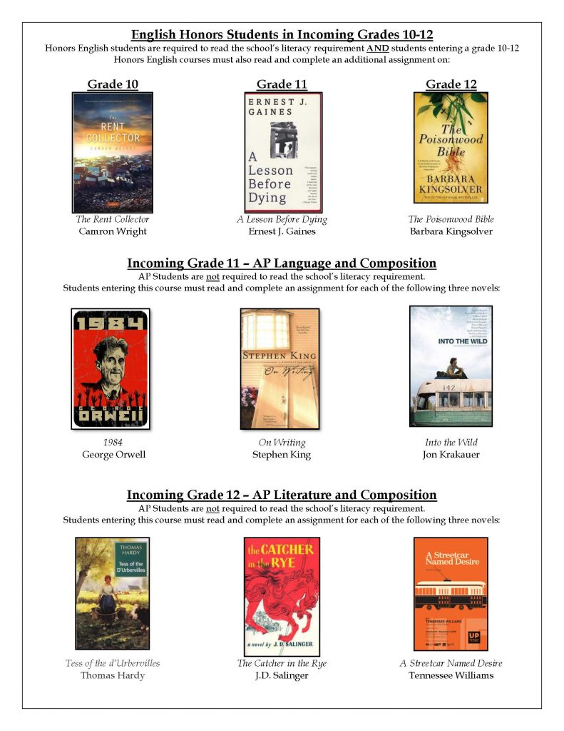 link to pdf description of all summer reading books