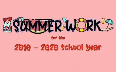 2019-2020 Summer Packets