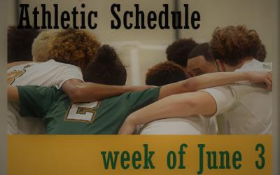 Athletic Schedule Week of June 3