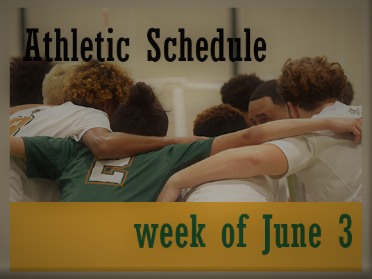 Athletic Schedule Week of June 3