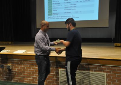 students getting a award
