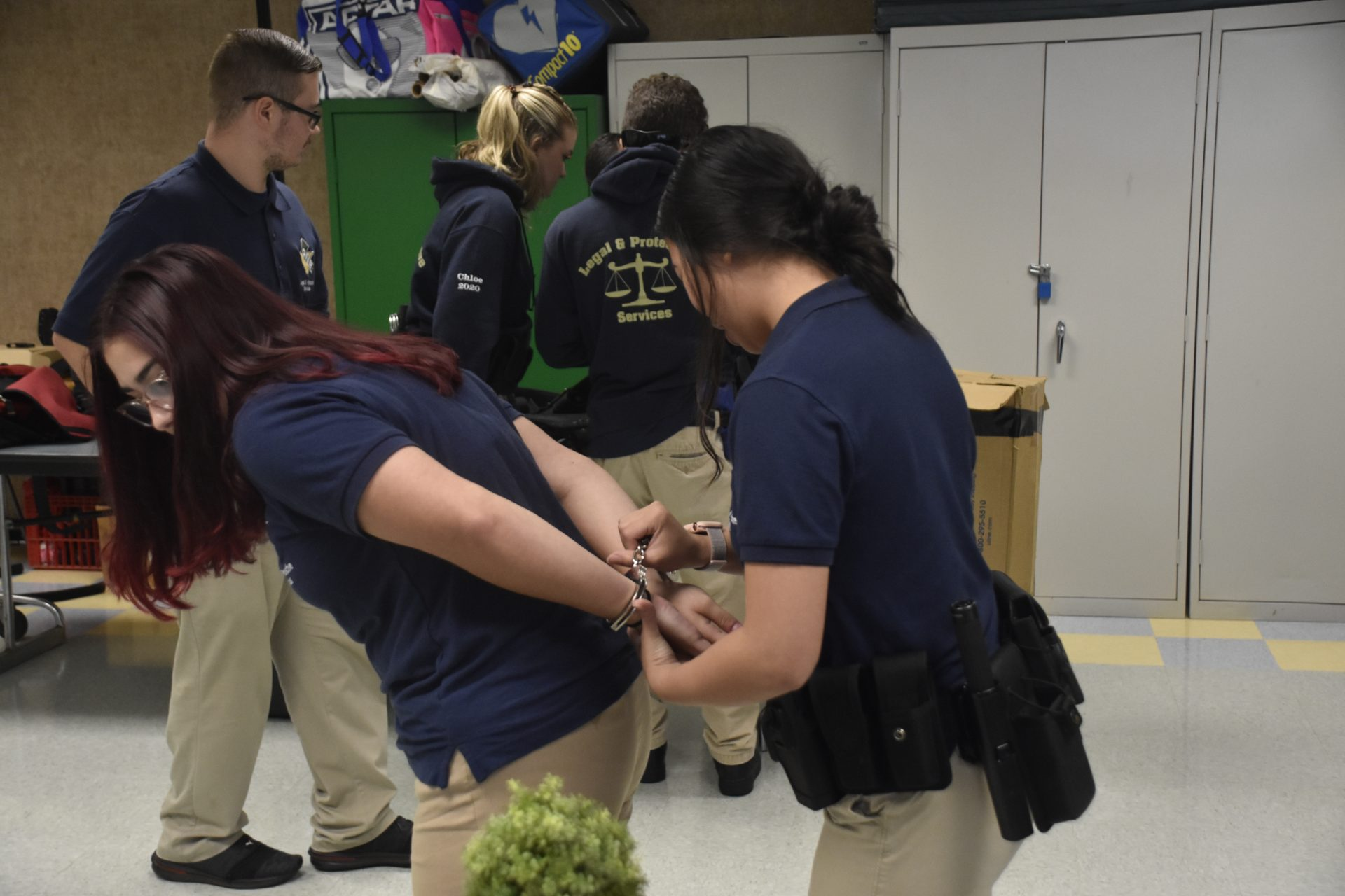 Two Students Practicing Arrests
