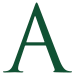 The Letter A in GNBVT Green