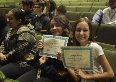 Chelsee and Abby Smile with Certificates