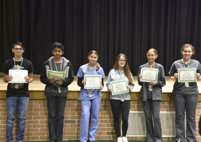 Students Smile with Awards