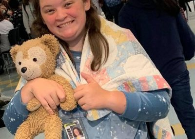 Student dressed up for pajama day
