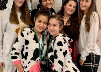 Group of students dressed up for pajama day