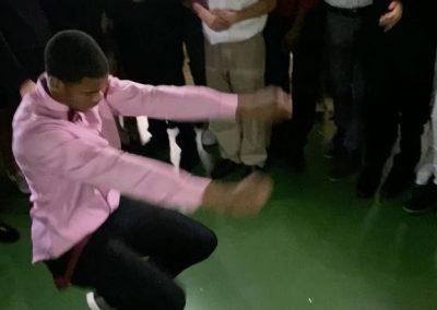 Homecoming kid dancing