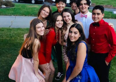 Homecoming Group Shot of friends