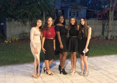 Group Photo of girls homecoming