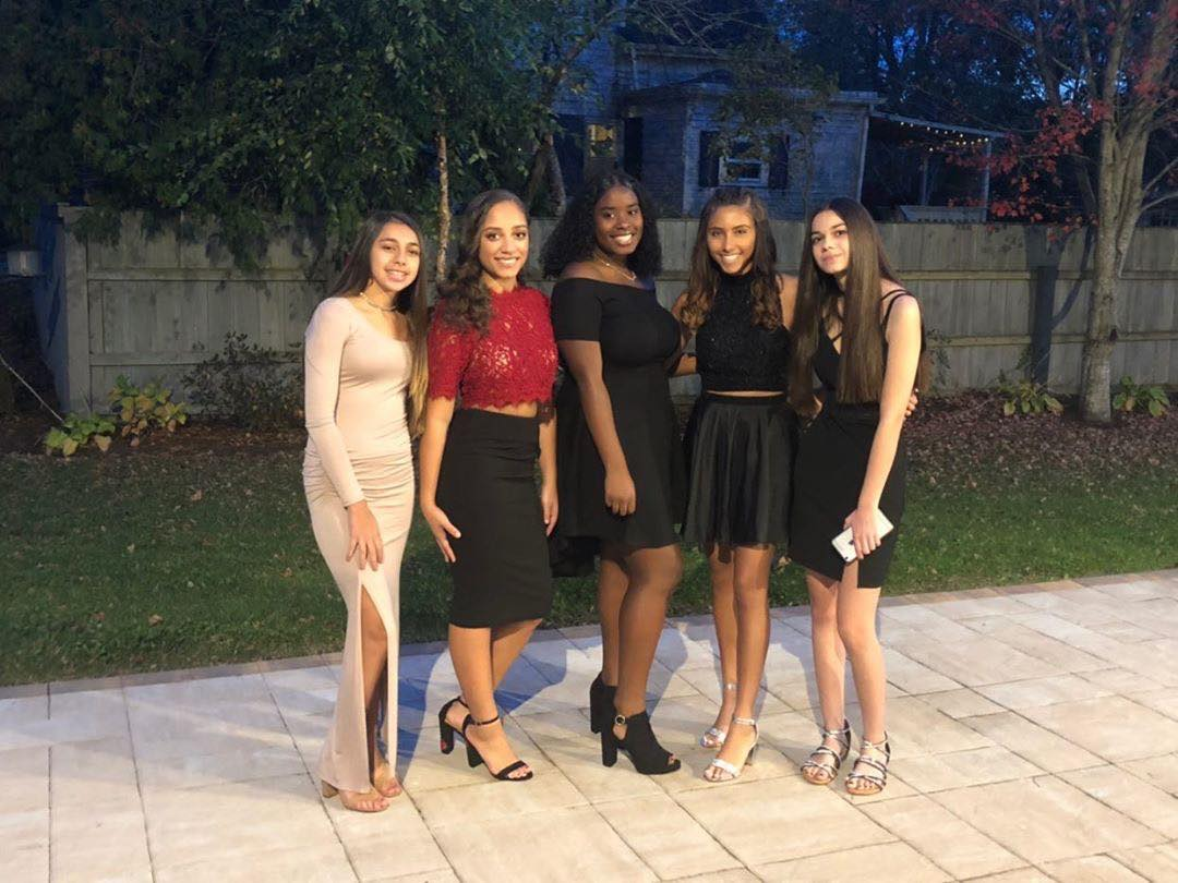 Group Photo of girls homecoming
