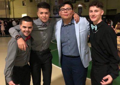 Group shot of friends at homecoming