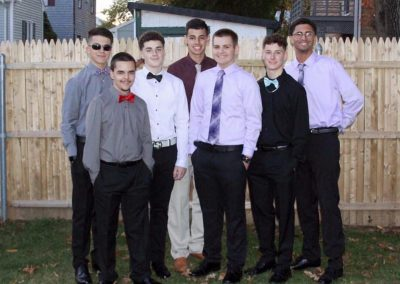 Homecoming group shot outside of guys 3