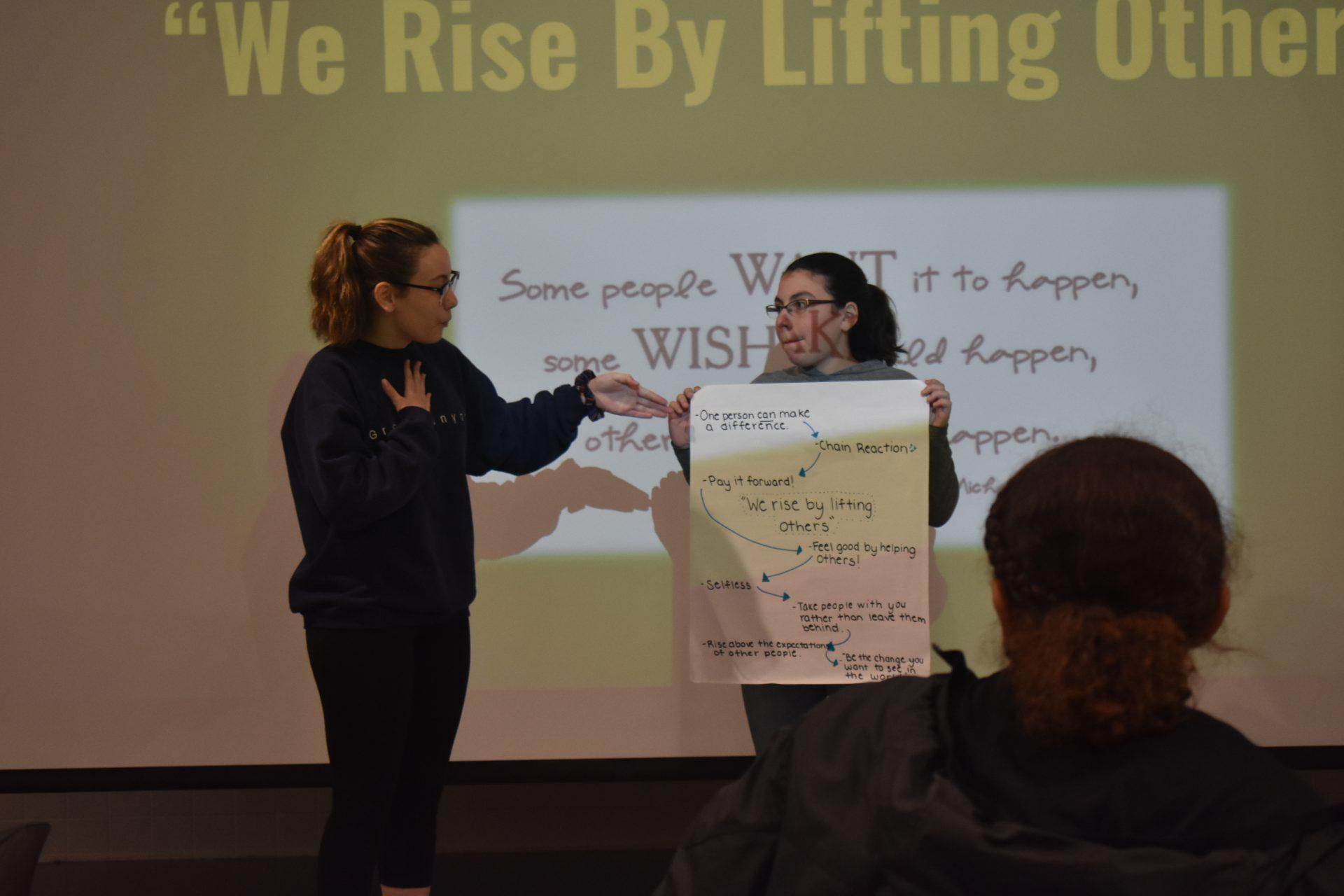 Mentors presenting project