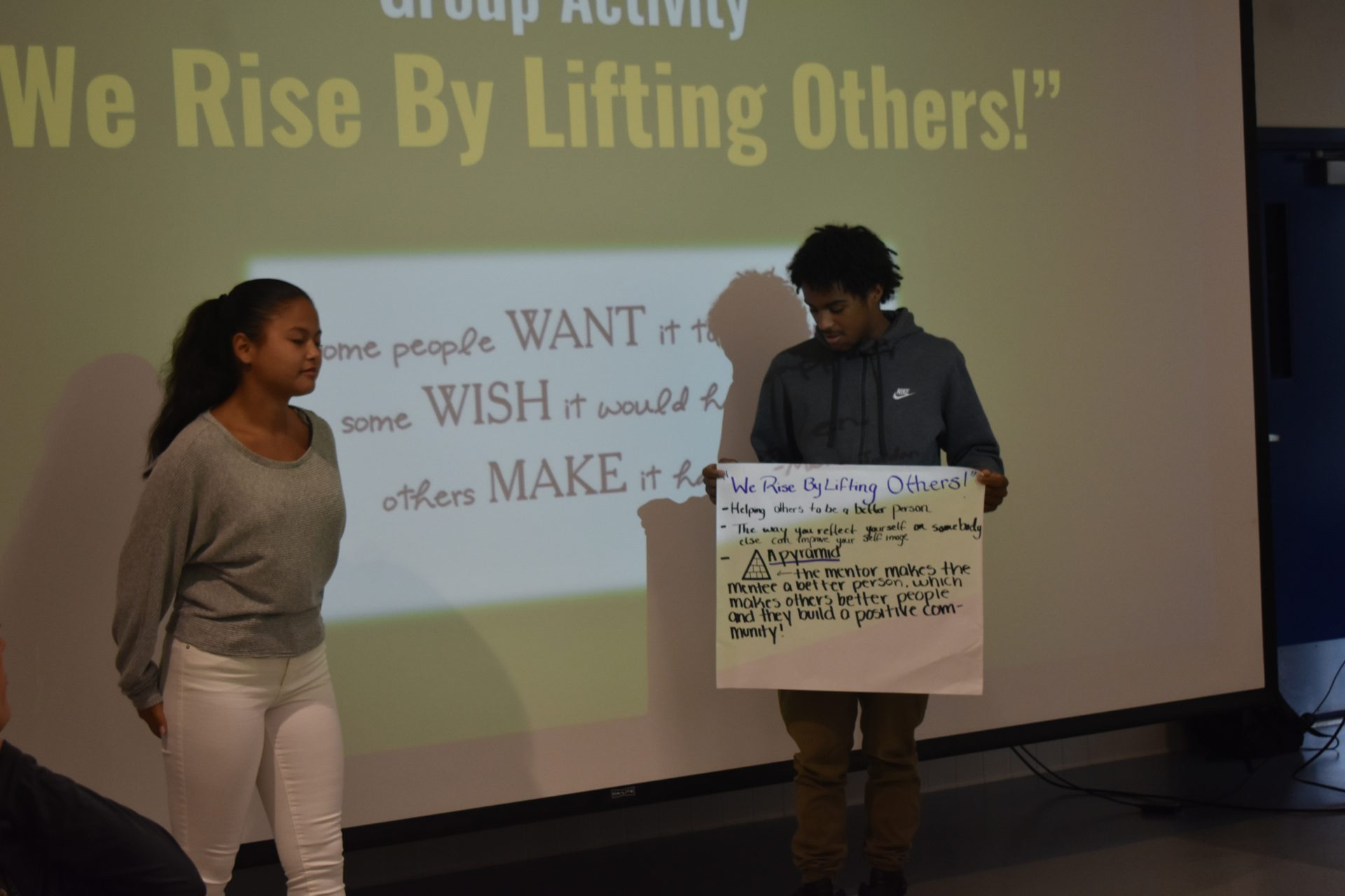 Two Mentors presenting project