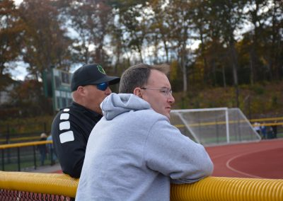 Principle Watson watching the game