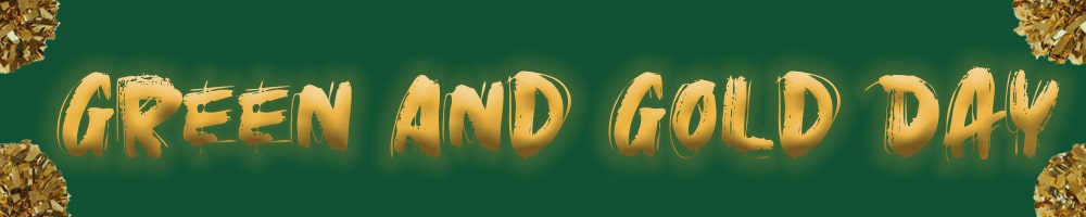 Header Image For Green and gold day