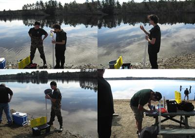 Environmental students testing water