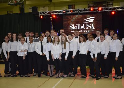a photo of all the skills usa winners