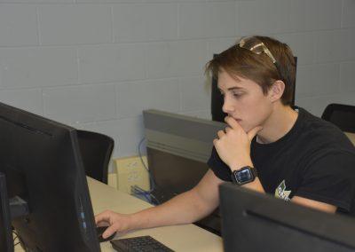 jack working on computer
