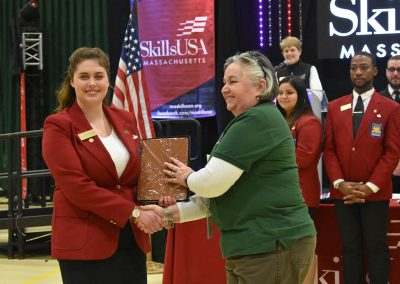 SkillsUSA Officer with Mrs. Russell