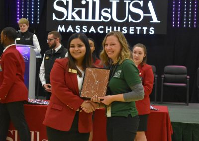 SkillsUSA Officer with Mrs. Lacasse