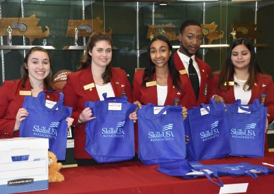 SkillsUSA Officers Holding Bags