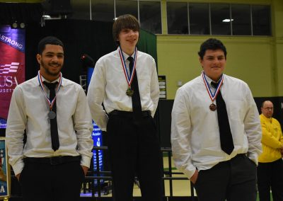SkillsUSA Students Winner with Medals Smiling
