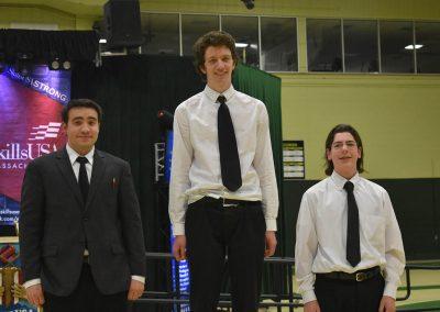 Three SkillsUSA Student Winners Standing