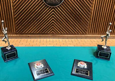 dave cowens awards trophy and plaque