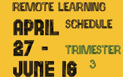 Remote Learning Schedule Trimester 3