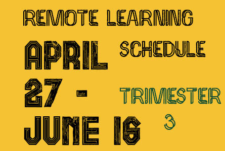remote learning schedule april 27 - June 16 Feature Image