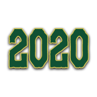 2020 image green letters with gold trim