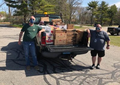 gnbvt donates food to Local food pantry food truck ready to go