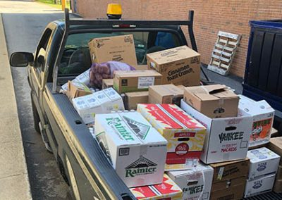 gnbvt donates food to Local food pantry food truck filled