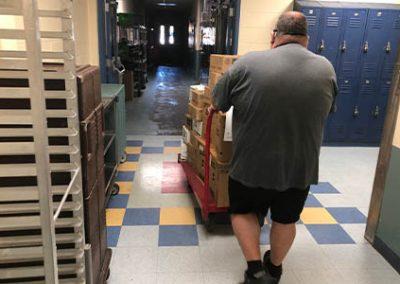 gnbvt donates food to Local food pantry driving food
