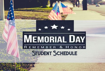 memorial day student schedule feature image