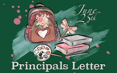 Summer 2020 Principals Letter, #1 – June 25