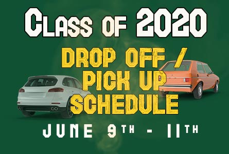 Class of 2020 Drop Off / Pickup Schedule for June 9 - Jun 11 feature image