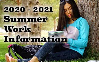 2020 – 2021 Summer Assignments