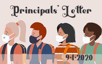 Principals' Letter – September 1, 2020