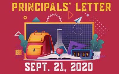 Principals Letters – September 21, 2020