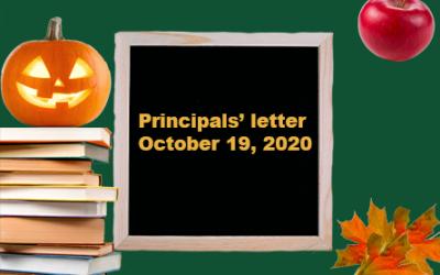 Principals Letter – October 19
